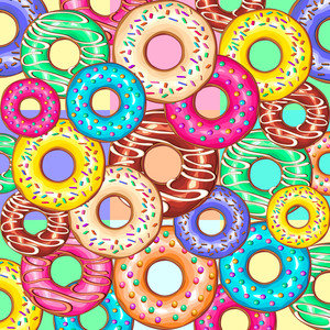 Donuts Punchy Pastel Flavours