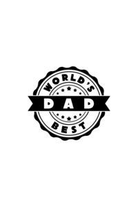 World's Best Dad On Red