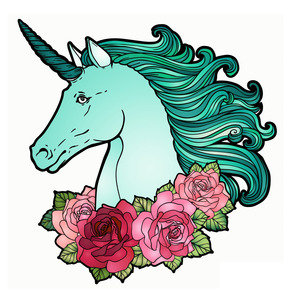 Unicorn With Roses