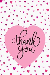 Thank You Pink Hearts