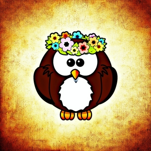 Funny Owl Bird With Tiara