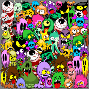 Monsters Doodles Characters Saga