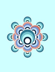 70s Flower Aqua Palette