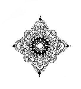 Mandala On White