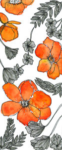 Orange Flower Pattern
