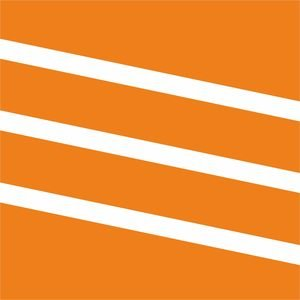 Diagonal Classy Stripes Orange