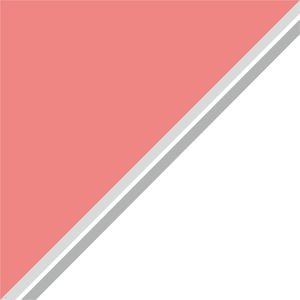 Dual Colors Baby Pink With White Lines