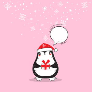 Christmas With Penguin Gift