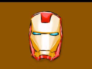 Iron Man Face Illustration