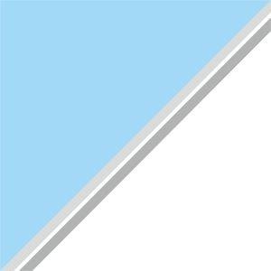 Dual Color Sky Blue White Strips
