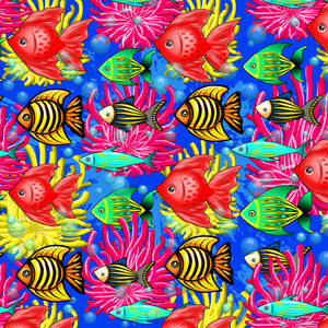 Fish Cute Colorful Doodles