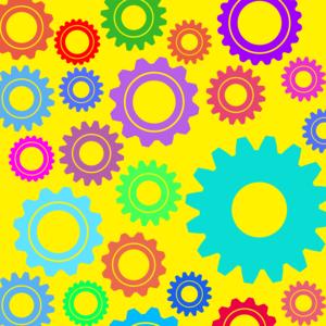 Gear Pattern On Yellow