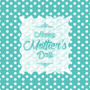 Happy Mother's Day On Green Polka Dots