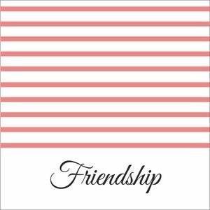 Baby Pink Strips Friendship