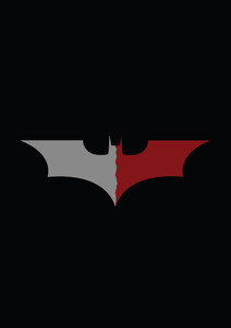 Grey Red Batman