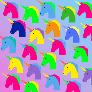 Unicorn Pattern On Purple