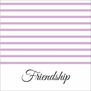 Baby Purple Strips Friendship