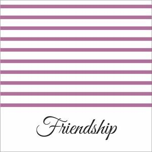 Purple Strips Friendship