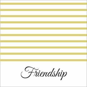 Pale Yellow Strips Friendship