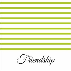 Green Strips Friendship