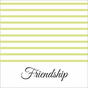 Pastel Green Strips Friendship