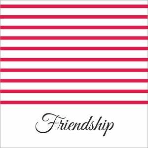 Bright Pink Strips Friendship