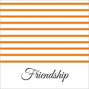Orange Strips Friendship