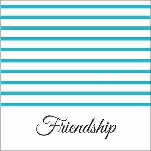 Turquoise Strips Friendship