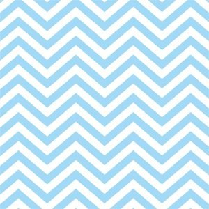 Ethnic Pastel Blue Zig Zag