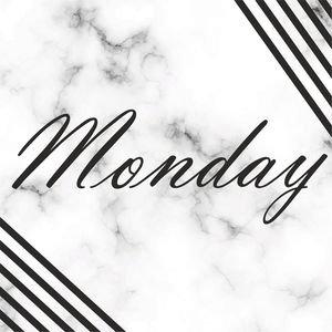 Elegant Monday On Marble Print