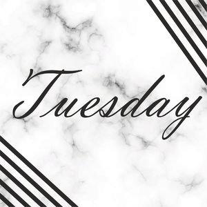 Elegant Tuesday On Marble Print
