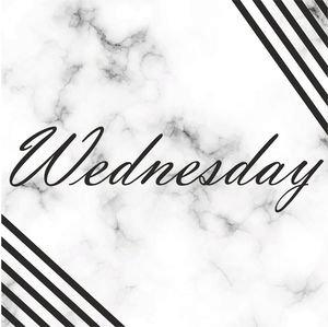 Elegant Wednesday On Marble Print