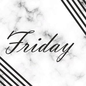 Elegant Friday On Marble Print