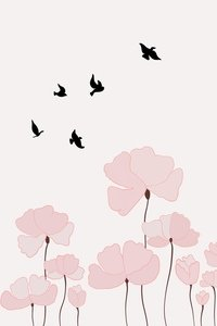 Flowers With Birds