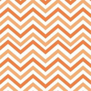 Ethnic Dark And Light Orange Zig Zag