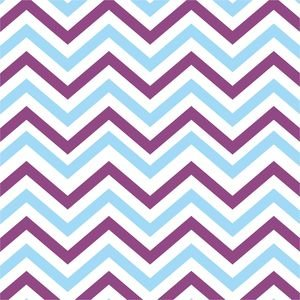 Ethnic Purple And Blue Zig Zag