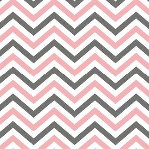 Ethnic Pink And Grey Zig Zag