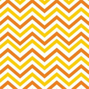 Ethnic Orange And Yellow Zig Zag