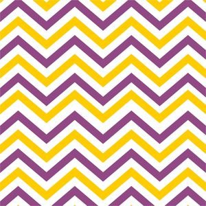Ethnic Purple And Yellow Zig Zag