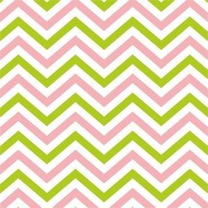 Ethnic Pink And Green Zig Zag