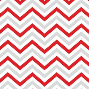 Ethnic Red And Grey Zig Zag