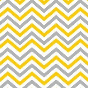 Ethnic Yellow And Grey Zig Zag