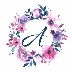 Elegant Alphabet A In Floral Frame