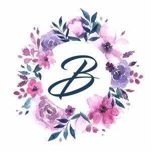 Elegant Alphabet B In Floral Frame