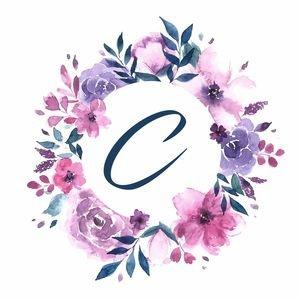 Elegant Alphabet C In Floral Frame