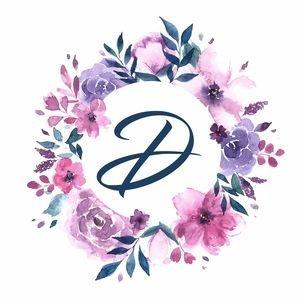 Elegant Alphabet D In Floral Frame