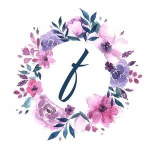 Elegant Alphabet F In Floral Frame