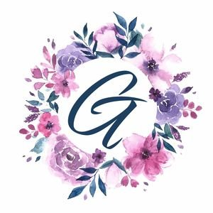 Elegant Alphabet G In Floral Frame