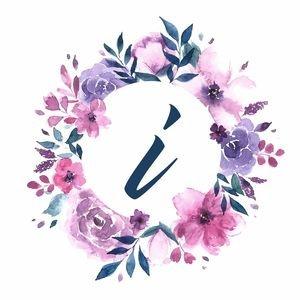 Elegant Alphabet I In Floral Frame