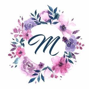 Elegant Alphabet M In Floral Frame